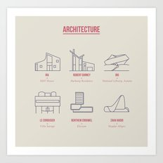 Architecture Line Design Art Print