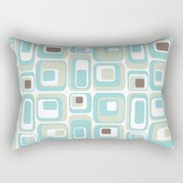 Retro Rectangles Mid Century Modern Geometric Vintage Style Rectangular Pillow