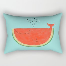 Don't let the seed stop you from enjoying the watermelon Rectangular Pillow