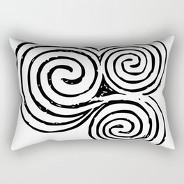 Newgrange Celtic Spiral Rectangular Pillow