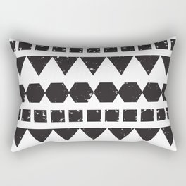 A Mix of Squares Triangles & Hexagons Rectangular Pillow