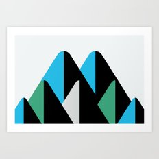 Graphic Mountains Art Print