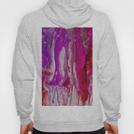 Red Violet and Silver Flow Hoody