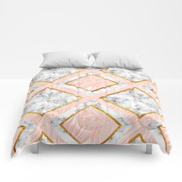 Gold and marble Comforters