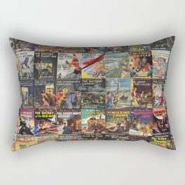 Vintage childrens' mystery series books Rectangular Pillow