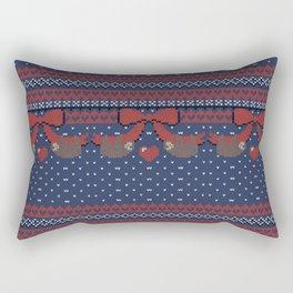 A Lazy Winter Sweater Rectangular Pillow
