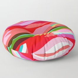Warm Swirls Floor Pillow