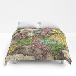 Vintage Map of Europe (1842) Comforters