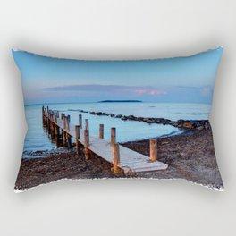 Peace and silence - a pier at sunset Rectangular Pillow