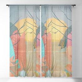 Mystery Garden III Sheer Curtain