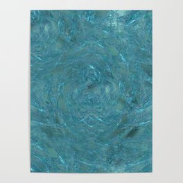 Teal Maelstrom Poster