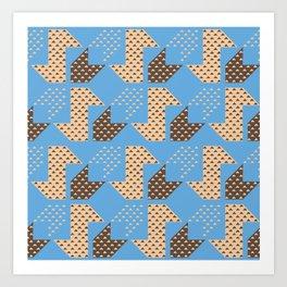 Clover&Nessie Cider/Mocha Art Print