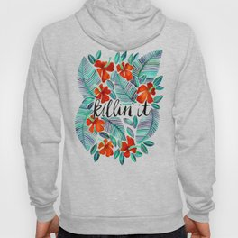Killin' It – Tropical Red & Green Hoody