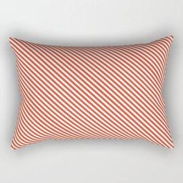 Tangerine Tango Stripe Rectangular Pillow
