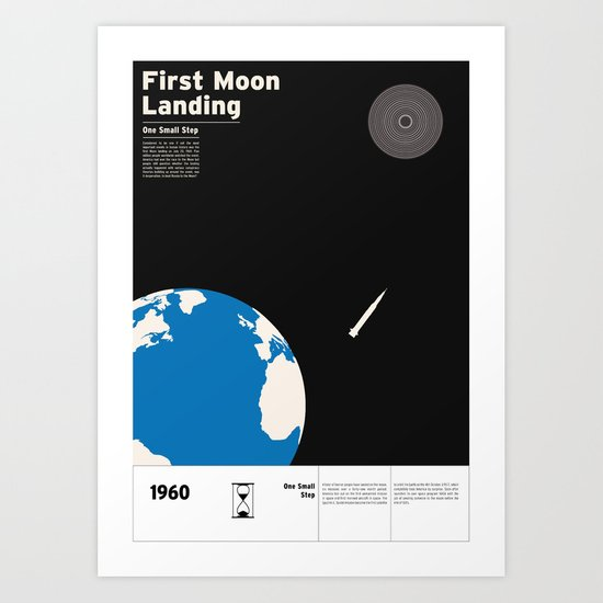 First Moon Landing Apollo 11 Art Print