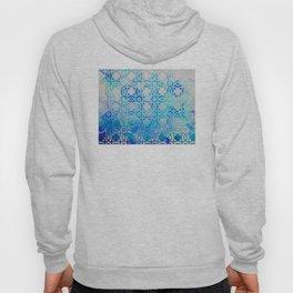 Elegant Islamic Geometric Blue Pattern Hoody