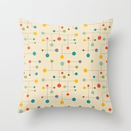 Mid-Century Dots Pattern Throw Pillow