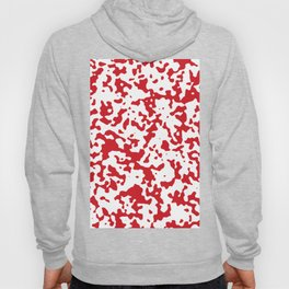 Spots - White and Fire Engine Red Hoody
