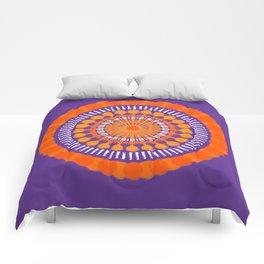Rough Orange Mandala Comforters