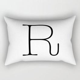 Letter R Typewriting Rectangular Pillow