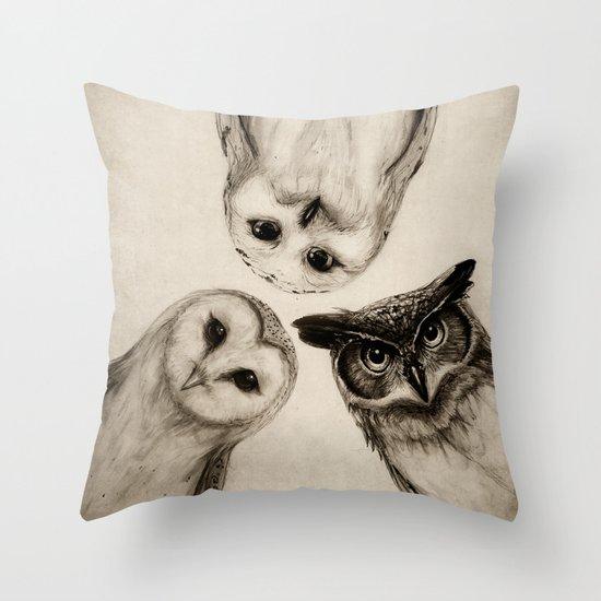 The Owl's 3 Throw Pillow