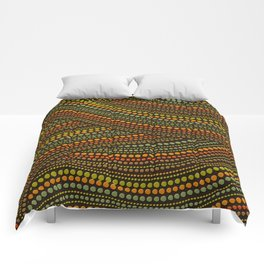 Dot Art Aboriginal Art #1 Comforters