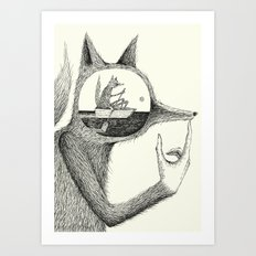 'A Thought' Art Print