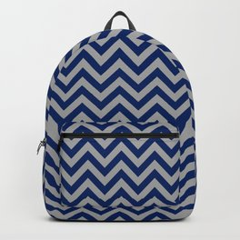 Chevron Pattern - navy and grey - more colors Backpack