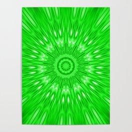 Green Mandala Explosion Poster