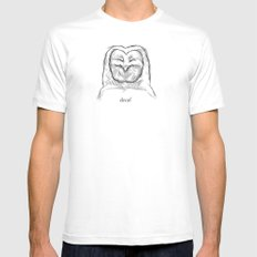 decaf MEDIUM White Mens Fitted Tee