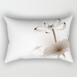 Oriental Lotus 003 Rectangular Pillow