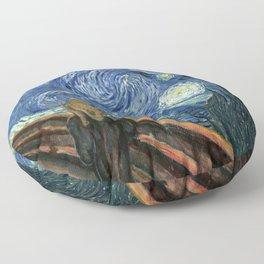 The Scream Starry Night Edvard Munch Vincent Van Gogh Floor Pillow