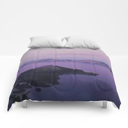 Crater Lake Sunset Comforters