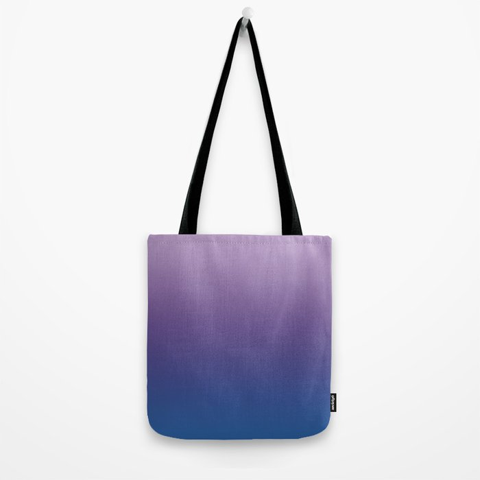 Ultra Violet Blue Lilac Ombre Gradient Pattern Tote Bag