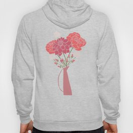 Pink Floral Bouquet in a Vase Hoody