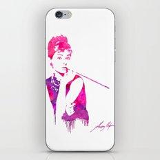 Audrey Stencil iPhone & iPod Skin
