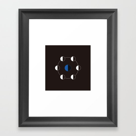 #163 The journey of the moon – Geometry Daily Framed Art Print
