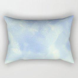 White Foam Plastic Texture Rectangular Pillow