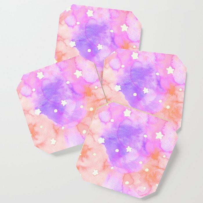 Starry Sky Raspberry Milkshake Coaster