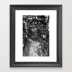 One Man's Possessions Framed Art Print