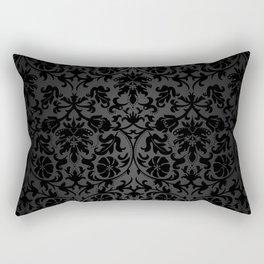 Black Damask Pattern Design Rectangular Pillow