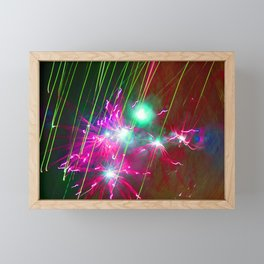 Light painting Framed Mini Art Print