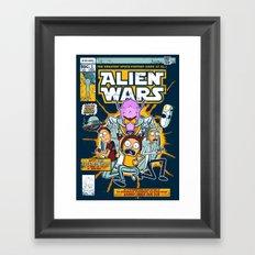 Alien Wars Framed Art Print