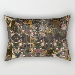 Abstract Oil Paint Collage #1 Rectangular Pillow