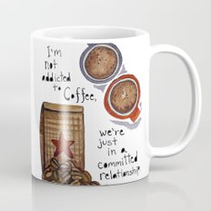 COMMITTED RELATIONSHIP, Coffee Art Mug