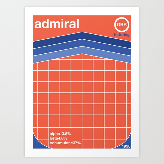 admiral single hop Art Print