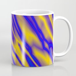 Shiny plaid metal with blue intersecting diagonal lines. Coffee Mug