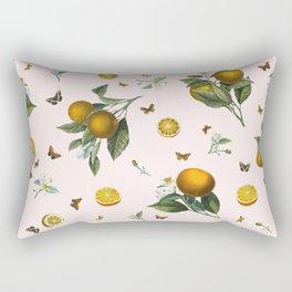 Oranges and Butterflies in Blush Rectangular Pillow
