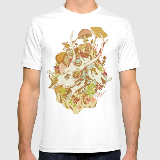 skulls in spring T-shirt