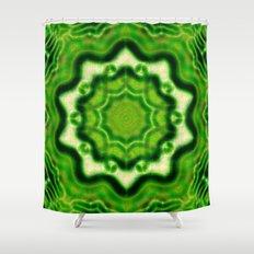 WOOD Element kaleido pattern Shower Curtain